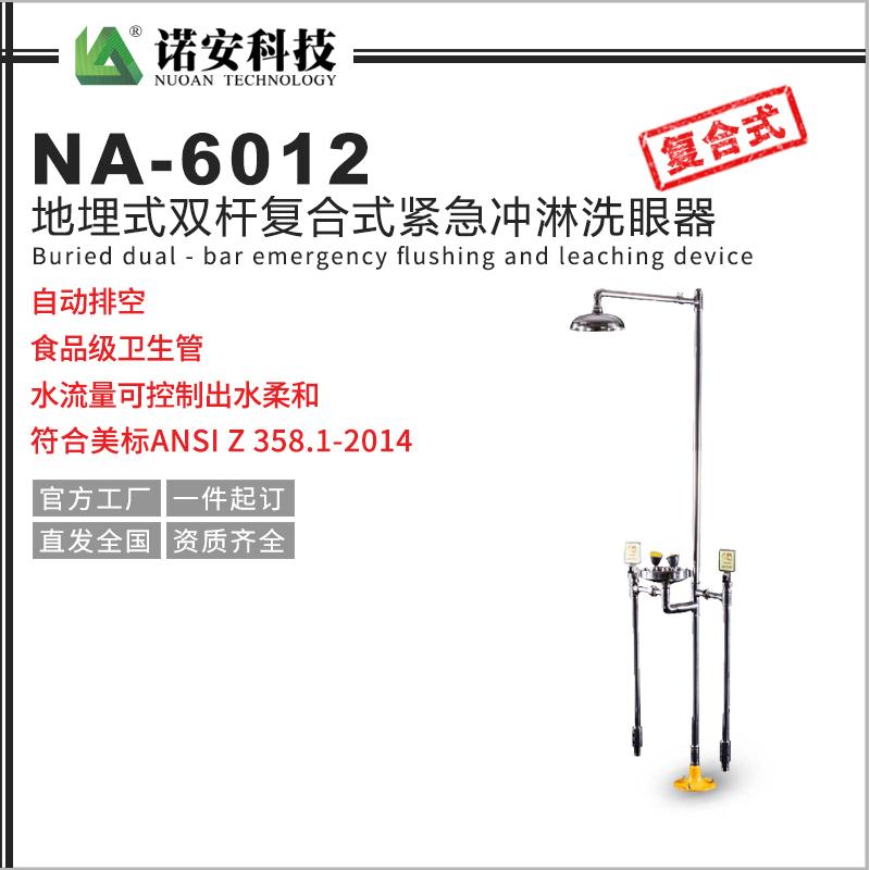 西藏NA-6012地埋式双杆洗眼器304不锈钢