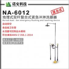 新疆NA-6012地埋式双杆洗眼器304不锈钢