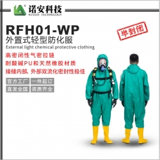 新疆RFH01-WP外置式轻型防化服(孔雀蓝)