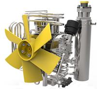 充气泵冷却风扇